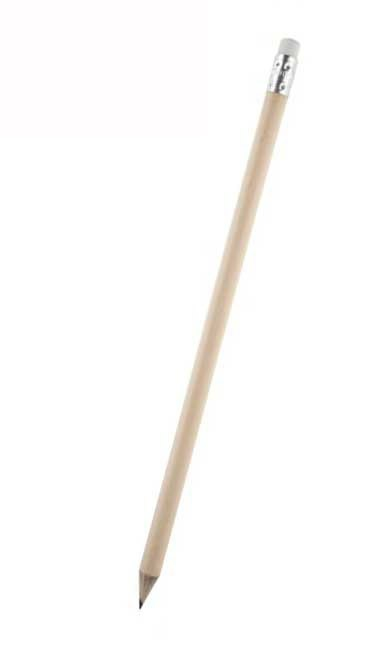 Bleistift gespitzt mit Radiergummi als Werbeartikel bestellen