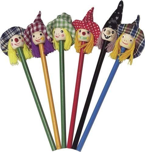 Bleistifte mit lustigen Hexen-Köpfen als Werbeartikel bedrucken