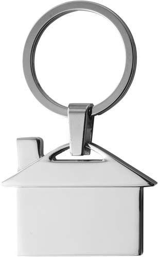 """Schlüsselanhänger """"Villa"""" aus Metall mit Schlüsselring"""