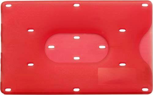 Bankkartenhuelle transparent blau, rot oder klar