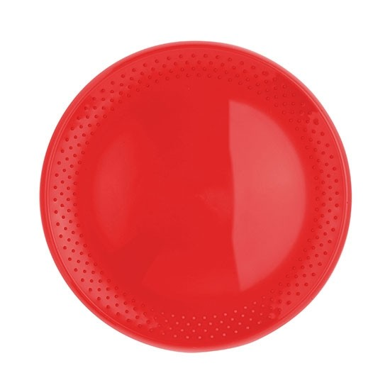Frisbee Flugscheibe in rot als Werbeartikel mit Logodruck