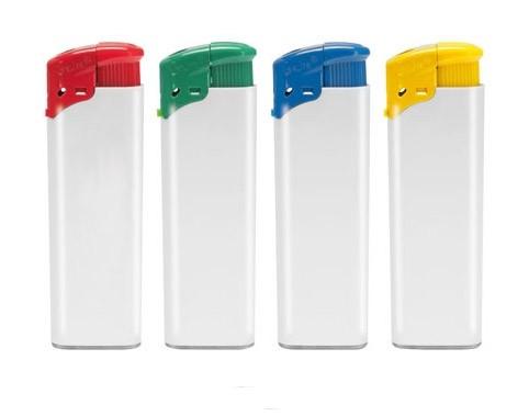 Elektronikfeuerzeug push als Werbeartikel mit Logo