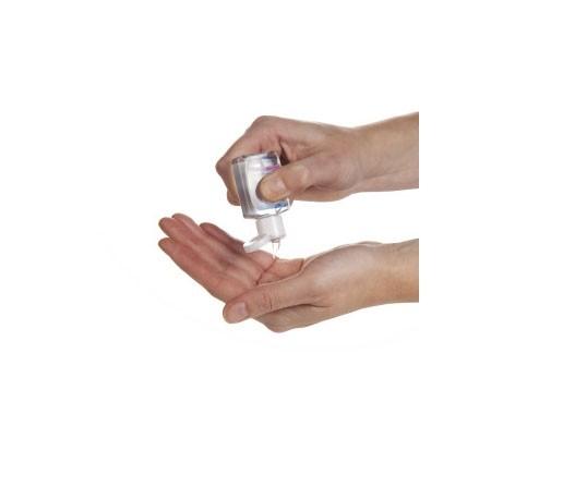 Handgel für unterwegs als Werbeartikel mit Logo bedrucken lassen