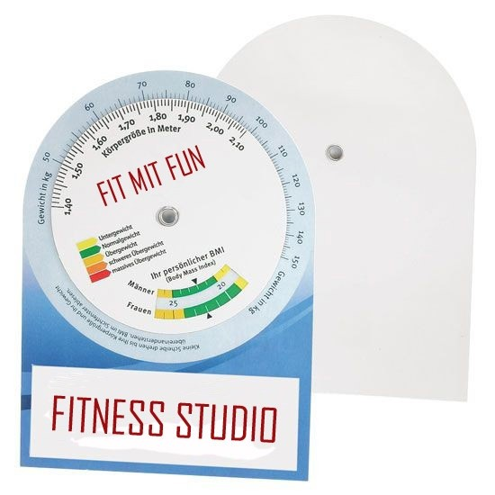 BMI Rechner als Werbeartikel bedrucken
