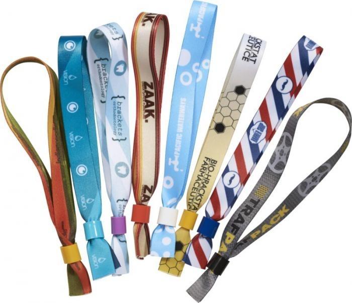 Kontrollband TexStar, gewebtes Textilband mit einmalig anwendbaren Kunststoffverschluss-Sicherheitsclip, nicht übertragbar