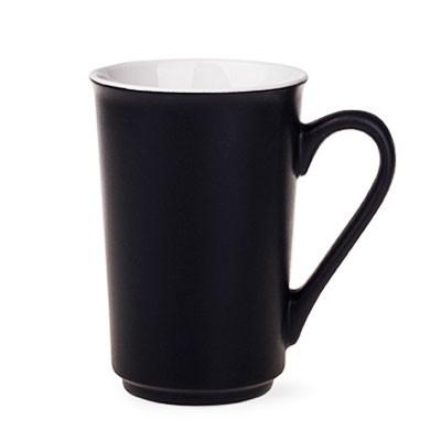 Kaffeebecher Sky aus Keramik in schwarz mit Logo bedrucken