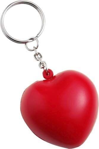 Anti Stress Herz als Schlüsselanhänger als Werbeartikel bedrucken
