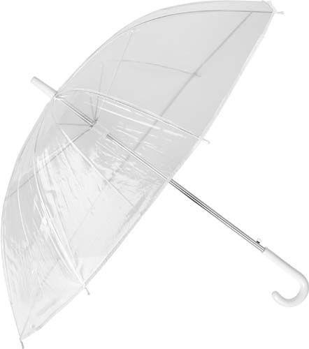 Regenschirm transparent mit Logo als Werbeartikel bedrucken