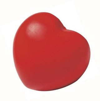 Antistressfigur Herz als Werbeartikel bedrucken