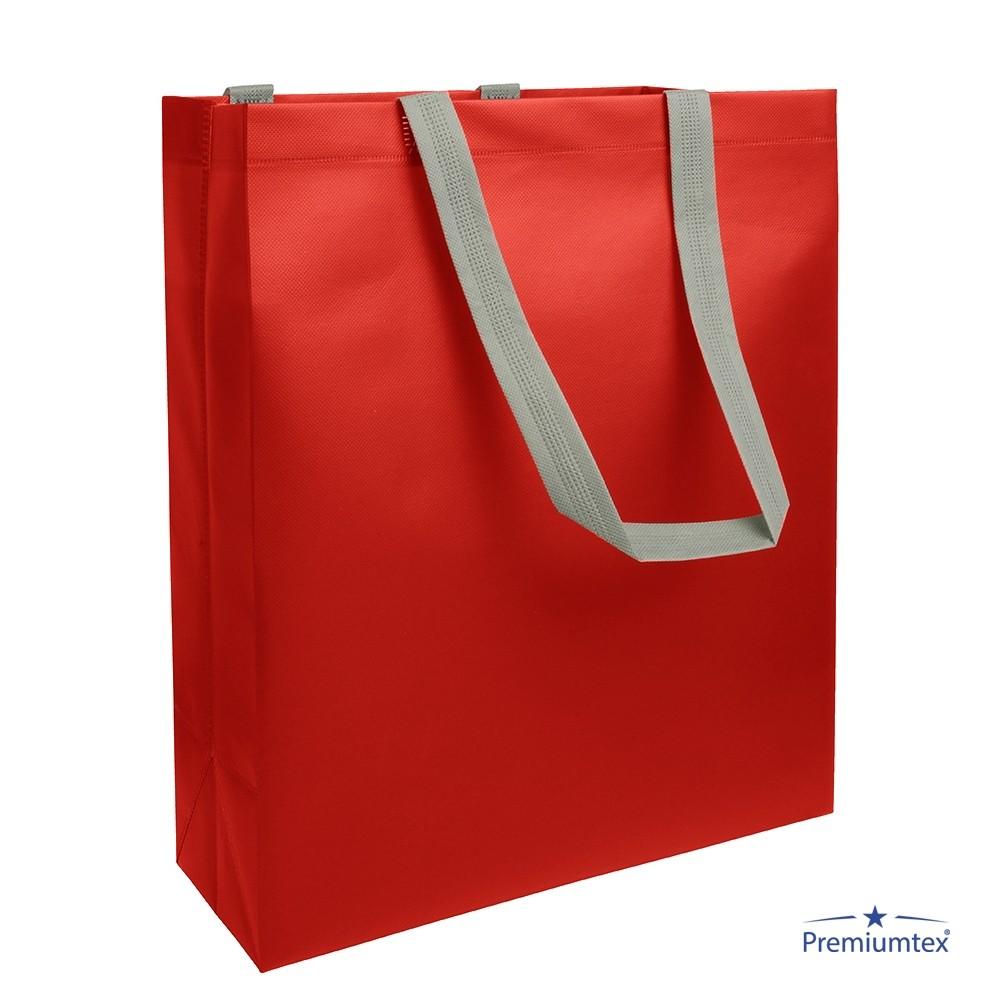 Premiumtex Einkaufstasche Dua in rot mit Logo bedrucken