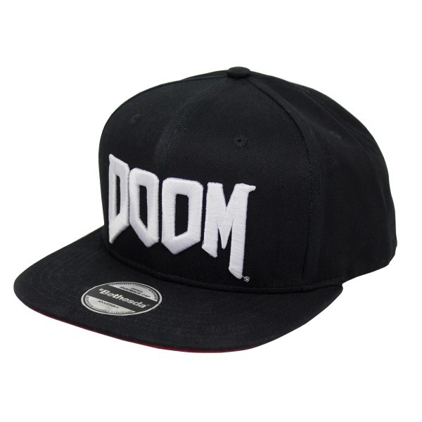 Doom Space Marine Snapback als merch in schwarz mit Logostick