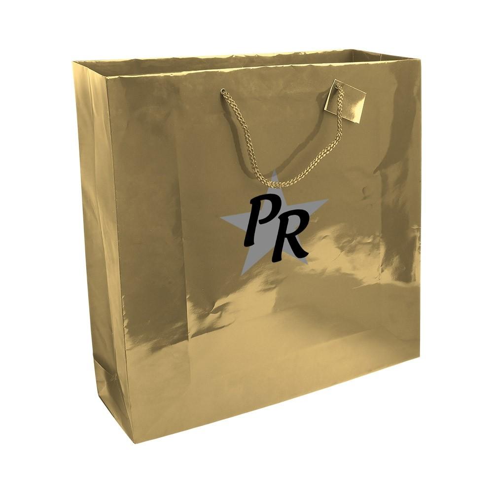 Einkaufstasche für Geschäfte und Boutiquen aus laminiertem Papier als Werbeartikel bedruckt