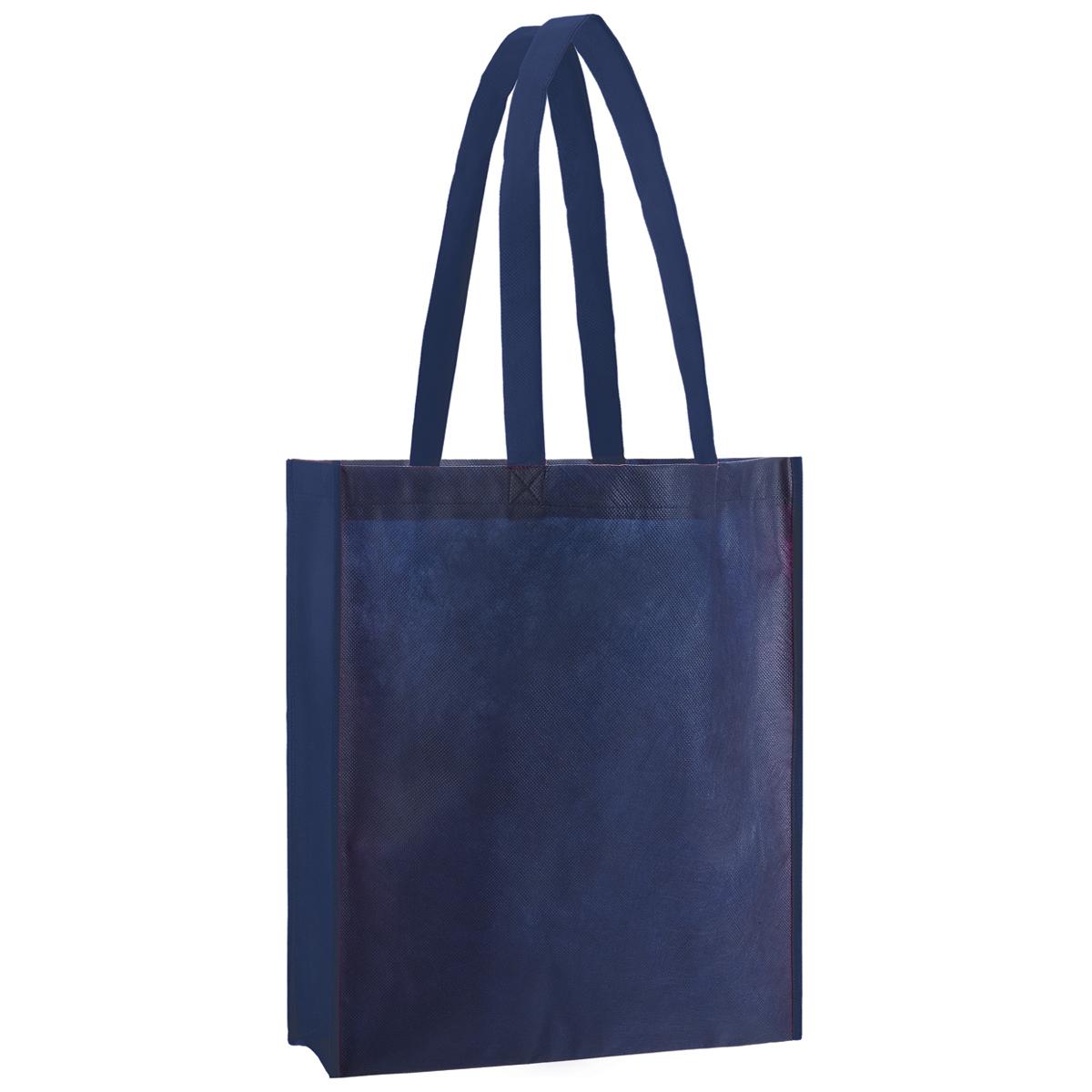 Premiumtex Non-Woven Einkaufstasche mit Boden- und Seitenfalte. Logodruck