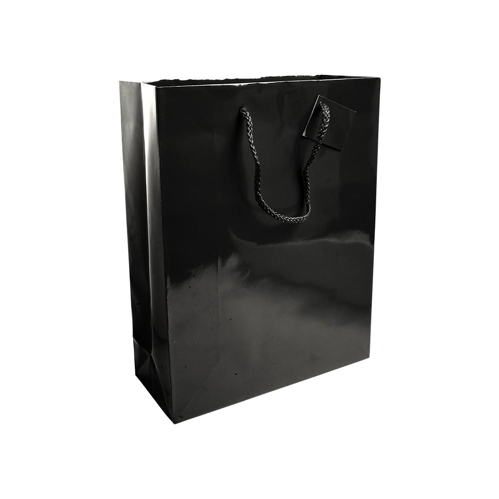 Premiumtex Tragetasche Pasadena aus Papier glänzend in schwarz