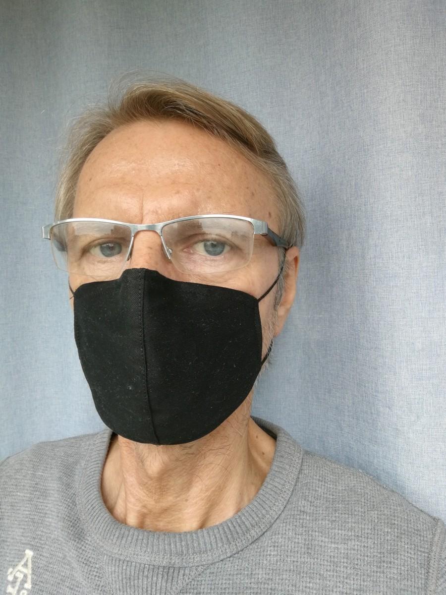 Mundnasenmaske adjust aus Baumwolle mit Nasenbügel für besseren Sitz