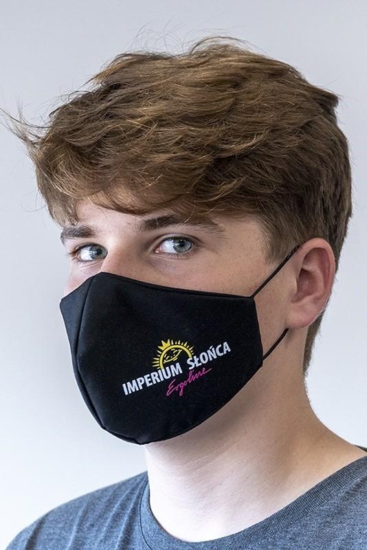 armada Mundnasenmaske Baumwolle im Bogendesign OEKOTex 100 schwarz