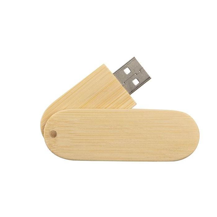USB-Stick Ahorn Holz mit Logo als Werbeartikel