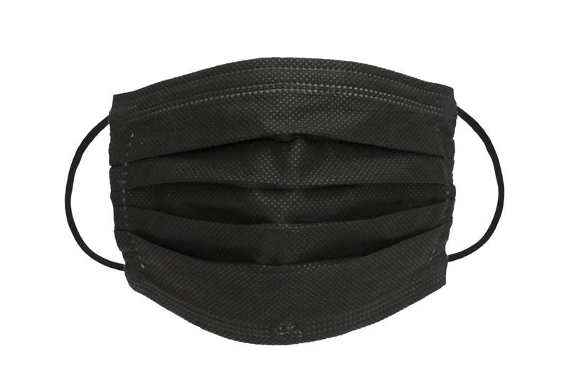 Gemaco medizinische Mundnasenmaske OP-Maske schwarz