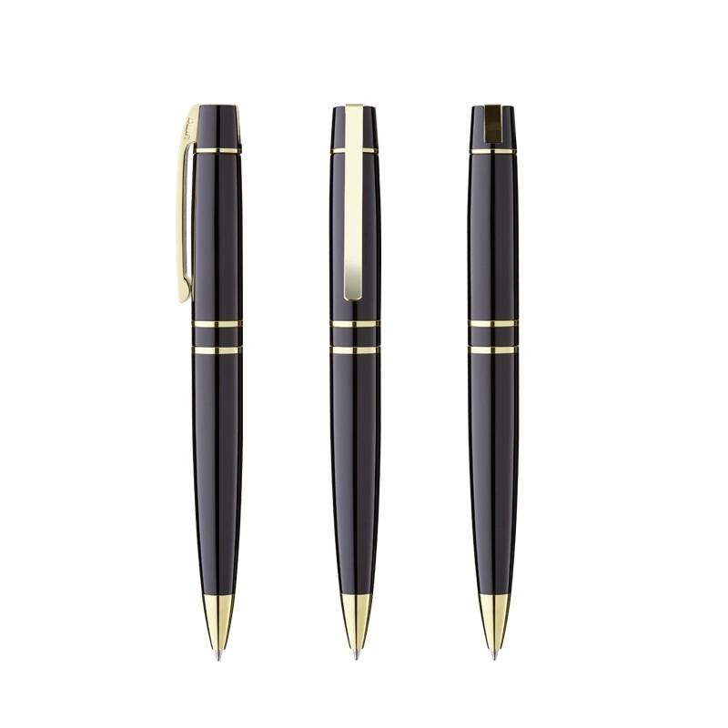 Kugelschreiber aus Metall Golden VIP - Metalldrehkugelschreiber mit Logodruck als Werbeartikel