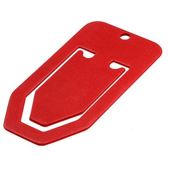 Maxi Bueroklammer rot 1-farbig bedruckt