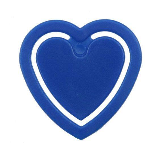 Zettelklammer in Herzform blau unbedruckt