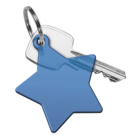 """Schlüsselanhänger """"Du bist mein Stern"""" mit Schlüsselring als Werbeartikel"""