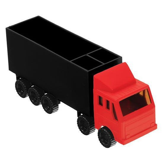 Zettelbox in LKW-Form
