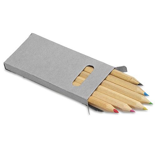 Buntstifte-Set aus Holz im Karton Etui als Werbeartikel bedrucken lassen