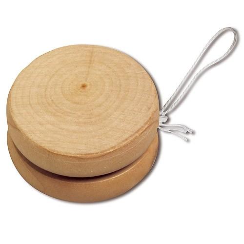 Jojo aus Holz biologisch abbaubar als Werbeartikel