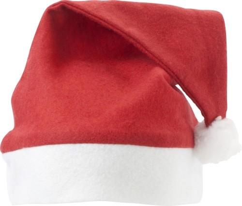 Weihnachtsmuetze Nikolausmuetze in rot mit Bommel