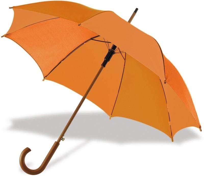 Regenschirm Portierschirm mit gebogenem Griff als Werbeartikel bedrucken