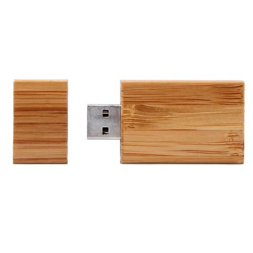 Bambus Cube mit  OEM-Chip USB-Stick, Version 2.0, Bambus