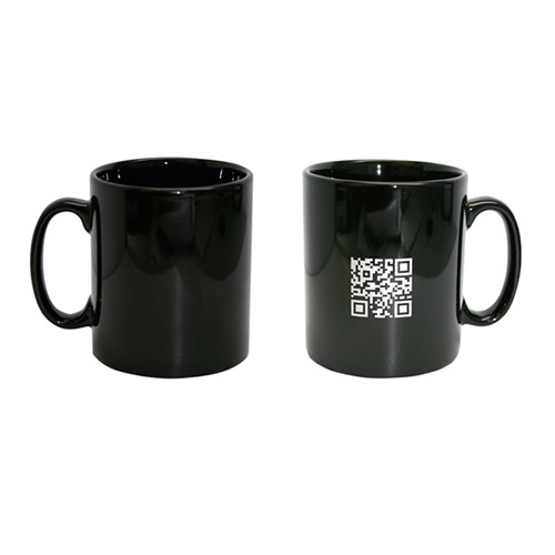 Kaffeebecher BLACKIE schwarz für Siebdruck 250 ml