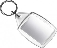 Schlüsselanhänger clear klar transparent