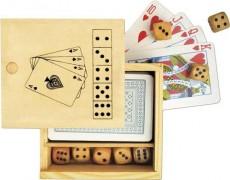 """Karten und Würfelspiel """"Nevada"""" in Holzbox"""