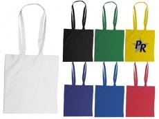 Baumwolltasche in Farbauswahl als Werbeartikel bedrucken und online bei www.premium-werbeartikel.de bestellen