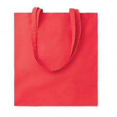 Farbige Baumwolltasche als Werbeartikel bedrucken und online bei www.premium-werbeartikel.de bestellen
