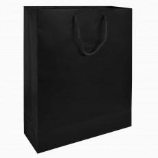 Laminierte Papiertasche schwarz bedrucken