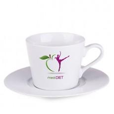 Kaffeetasse mit Untertasse mit Logo bedrucken