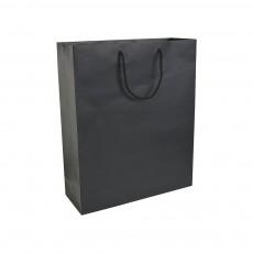Premiumtex Tragetasche Irvine aus Papier matt in schwarz