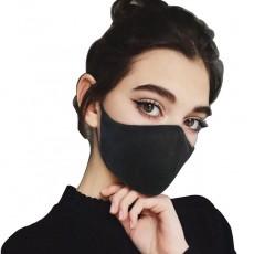 mundmaske baumwolle schwarz - communitymaske