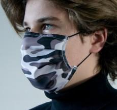 Mund-Nasen-Maske aus Baumwolle, waschbar, auch mit eigenem Logo bedruckt