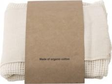 Einkaufstaschen aus Bio-Baumwolle für Obst und Gemüse in 3 praktischen Größen im Set