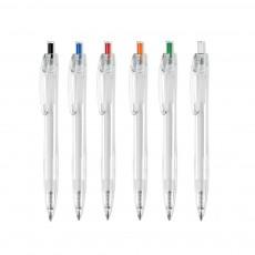 Gemaco Kugelschreiber Limon aus RPET Kunststoff mit Logo als Werbeartikel