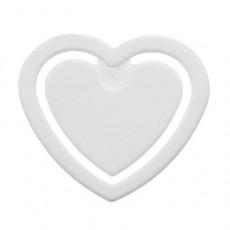 Zettelklammer Herzform mini