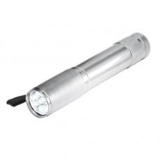 Aluminium-Stabtaschenlampe, 9 LED (weiß)