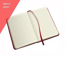 Notizbuch DIN A5 liniert als Werbeartikel bedrucken oder prägen