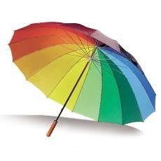 Regenschirm Regenbogen als Werbeschirm bedrucken