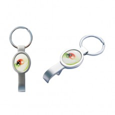 Ovalbottle Schlüsselanhänger Chrome matt