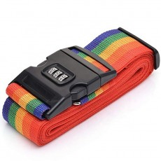 Koffergurt in Regenbogenfarben